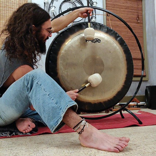 Looking for a way to quiet the mind? Try this — bang a gong, get it on, and a bang a gong. - LAURA LEE MADIGAN