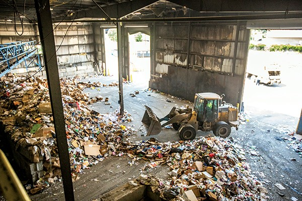 The Materials Recovery Facility off Lamar. - PHOTOGRAPHS BY JUSTIN FOX BURKS