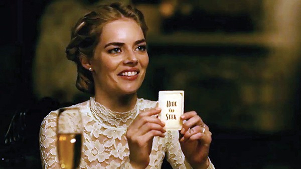 Samara Weaving plays a deadly serious postnuptial game of hide and seek in Ready or Not.