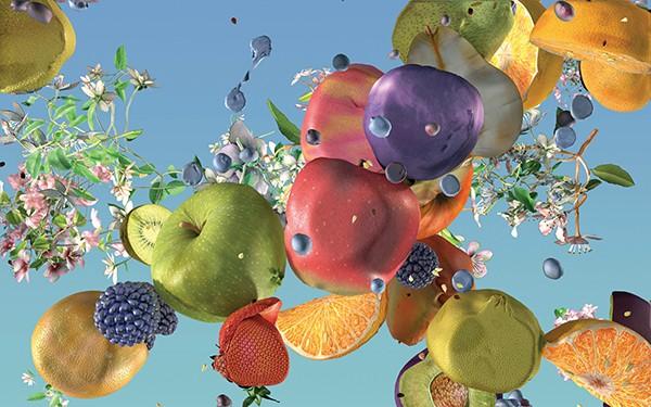 Still from Jennifer Steinkamp's Ovaries, 2017 -  - Computer animation -  - © JENNIFER STEINKAMPCOURTESY THE ARTIST AND LEHMANN MAUPIN, NEW YORK, HONG KONG, SEOUL AND GREENGRASSI, LONDON