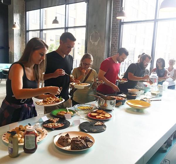 No meat, no problem — Crosstown Arts hosts vegan potluck meet-ups. - BIANCA PHILLIPS