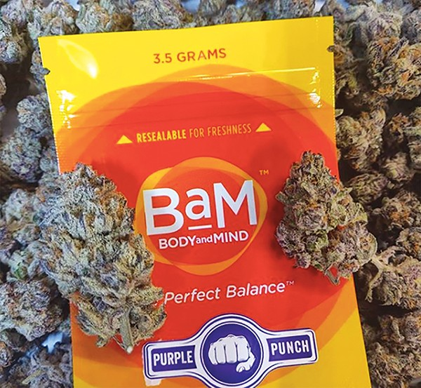 A 3.5 gram bag of Purple Punch may soon be available to Memphians — uh, West Memphians, that is. - BODY AND MIND/INSTAGRAM