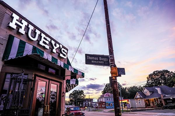 Huey's at Madison and Thomas Boggs Blvd.