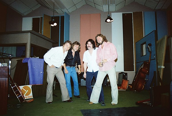(above, left to right) Billy Lee Riley, Jerry Phillips, John Prine, Knox Phillips - DIANE DUNCAN PHILLIPS