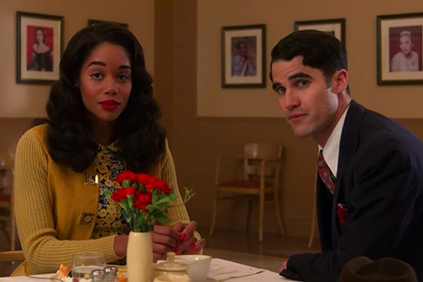 Laura Harrier (left) and Darren Criss are outrageously good looking