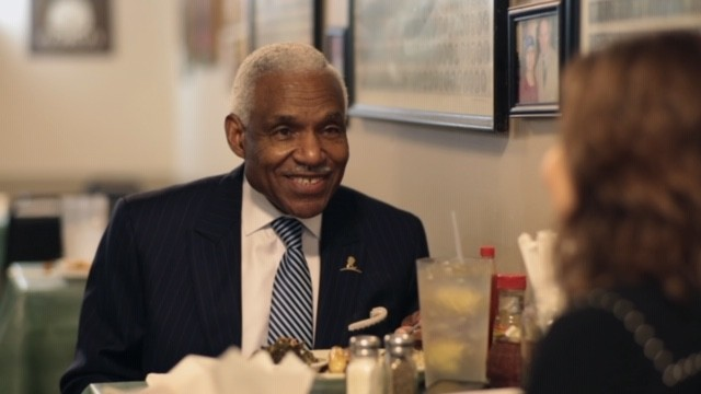 "Former Mayor A C Wharton at the Litttle Tea Shop. From the documentary ""The Little Tea Shop."" - COURTESY OF LAST BITE FILMS."