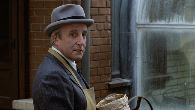 Peter Sellers as Chance the Gardener in Being There.