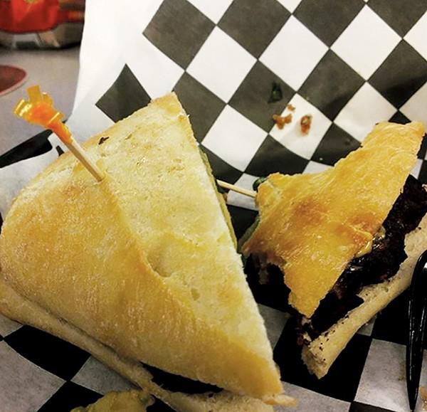 The Office @ Uptown's black bean burger