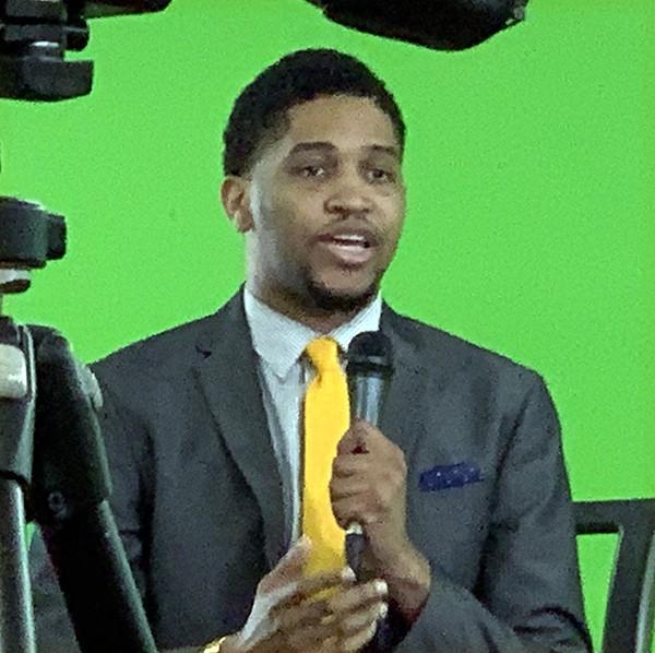 House candidate Torrey Harris - at TV taping - JACKSON BAKER