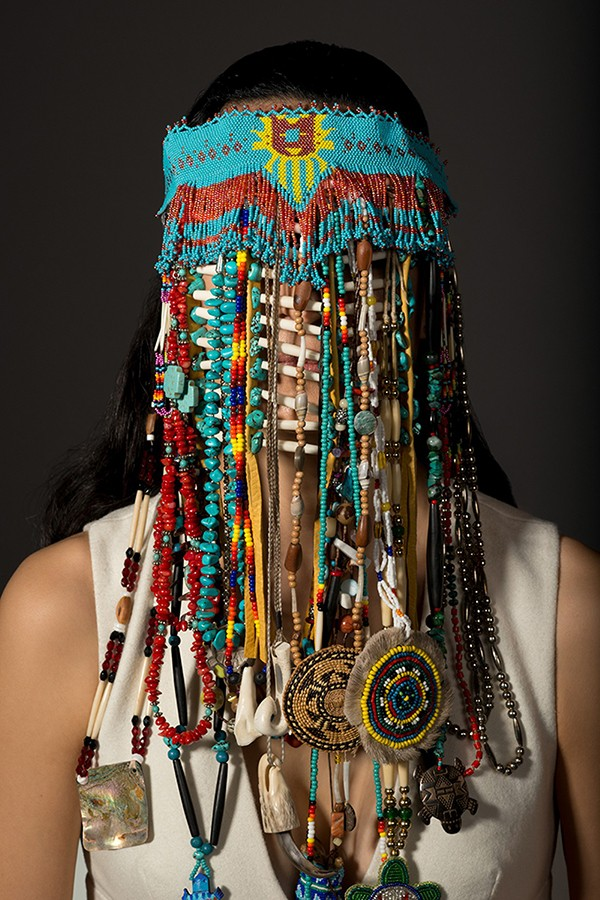 Dana Claxton, Headdress at the Brooks earlier this year. - COURTESY MEMPHIS BROOKS MUSEUM OF ART AND CRYSTAL BRIDGES MUSEUM OF AMERICAN ART
