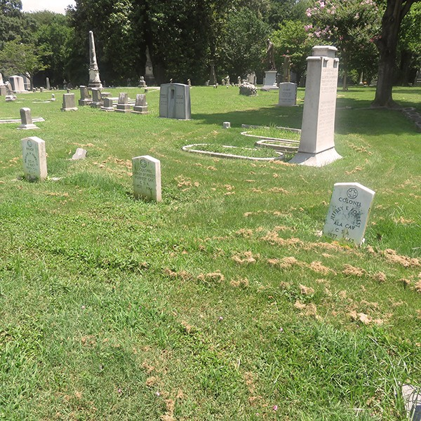 The Forrests would occupy the space in front of the general's brothers at Elmwood Cemetery. - JACKSON BAKER