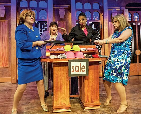 Teri Adams, Megan Cavanagh, - Linda Boston, and Judy Blue in Menopause: The Musical