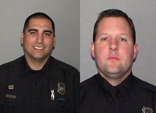 Officers Ned Aufdenkamp and Matthew Dyess