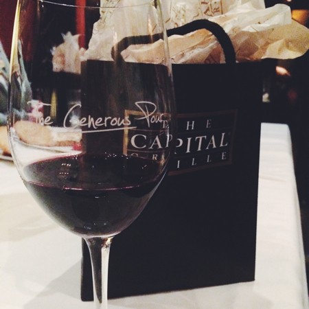 The Generous Pour runs through August 30th at Capital Grille. - CARA GREENSTEIN
