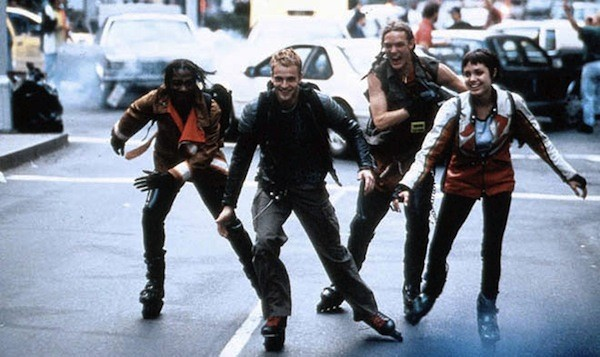 In 1995, Hackers rollerbladed.
