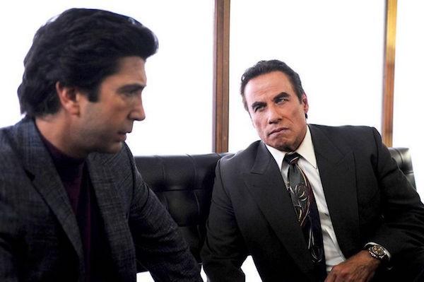 David Schwimmer as Robert Kardashian and John Travolta as Robert Shaprio