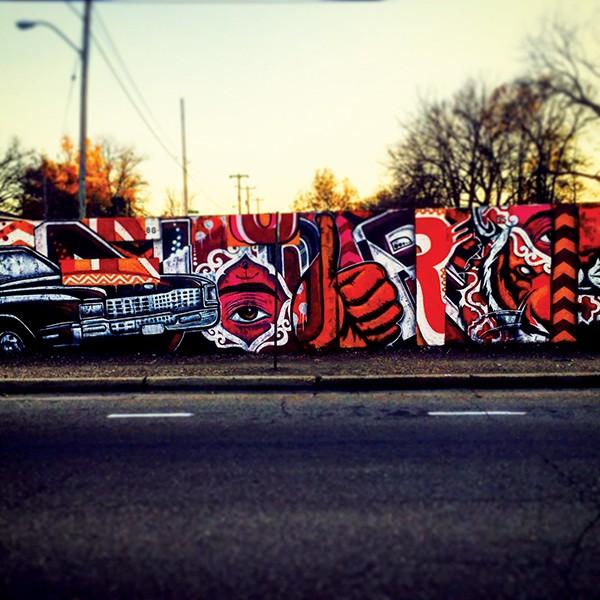 Graffiti vs. street art.