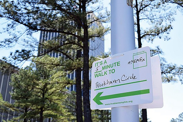 Wayfinding sign from MEMFix East - LIVABLE MEMPHIS