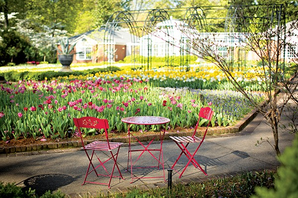 The Dixon's new Park and Cherry offers garden seating.