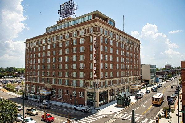 The Chisca Hotel is now a complex of apartments and restaurants.