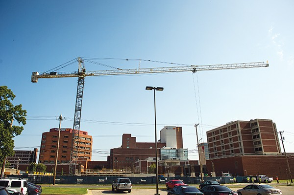 Crane sighting at UT Medical