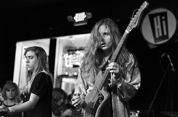 Alexandra Eastburn (left) and - Natalie Hoffmann at the Hi-Tone - BRANDI RINKS