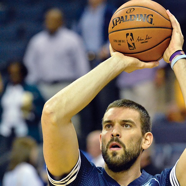 Marc Gasol looked good in his first game action since last year's foot injury. - LARRY KUZNIEWSKI