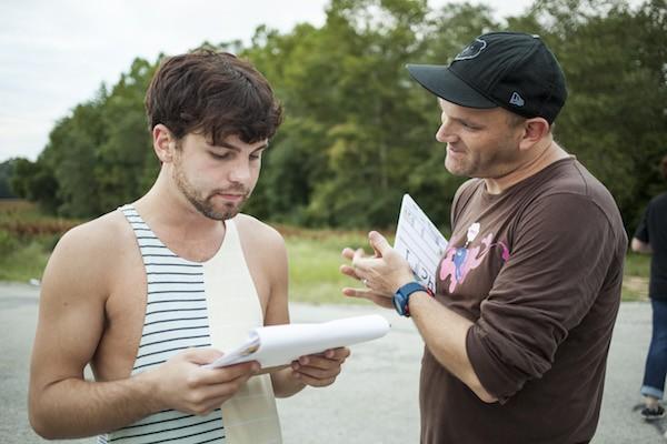Seth Daniel and director Morgan Jon Fox on the set of Feral - BREEZY LUCIA