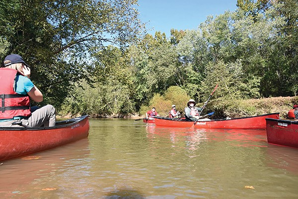 Paddlers hit the Wolf River. - WOLF RIVER CONSERVANCY