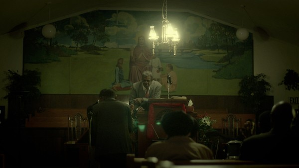 Free In Deed is set in the world of tiny, storefront churches. It was shot in Memphis in 2014.