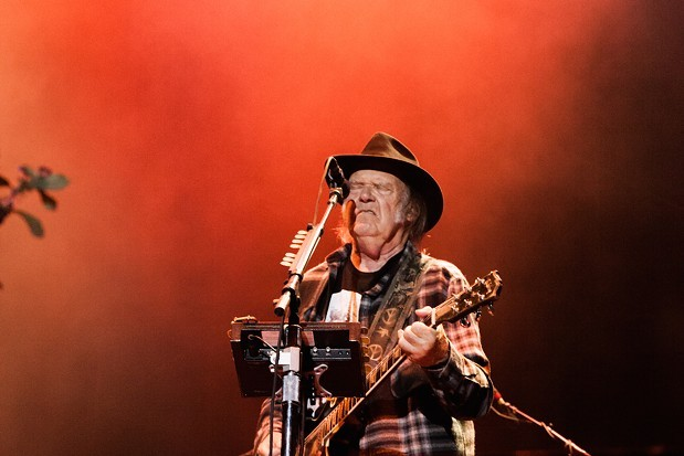Neil Young at Beale Street Music Fest 2016. - SAM LEATHERS