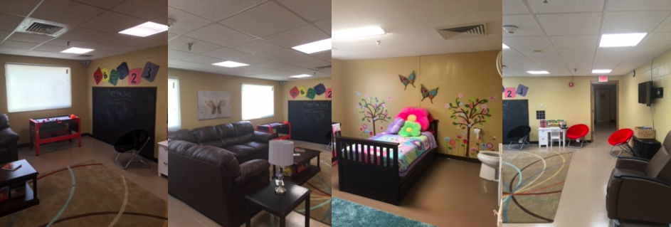 Photos show the inside of the Child Visitation Center in Henning. - TENNESSEE DEPARTMENT OF CORRECTION