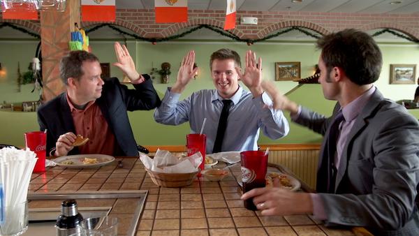 Drew Smith, Allan Gardner, and Matt Mercer in Bad, Bad Men.