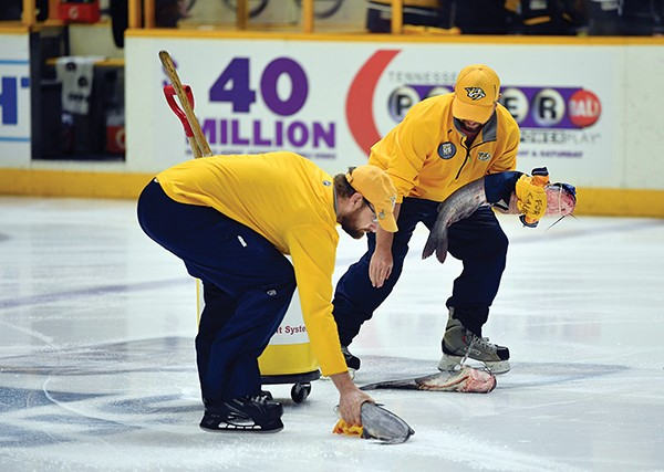 Catfish on ice - REUTERS  |  USA TODAY SPORTS