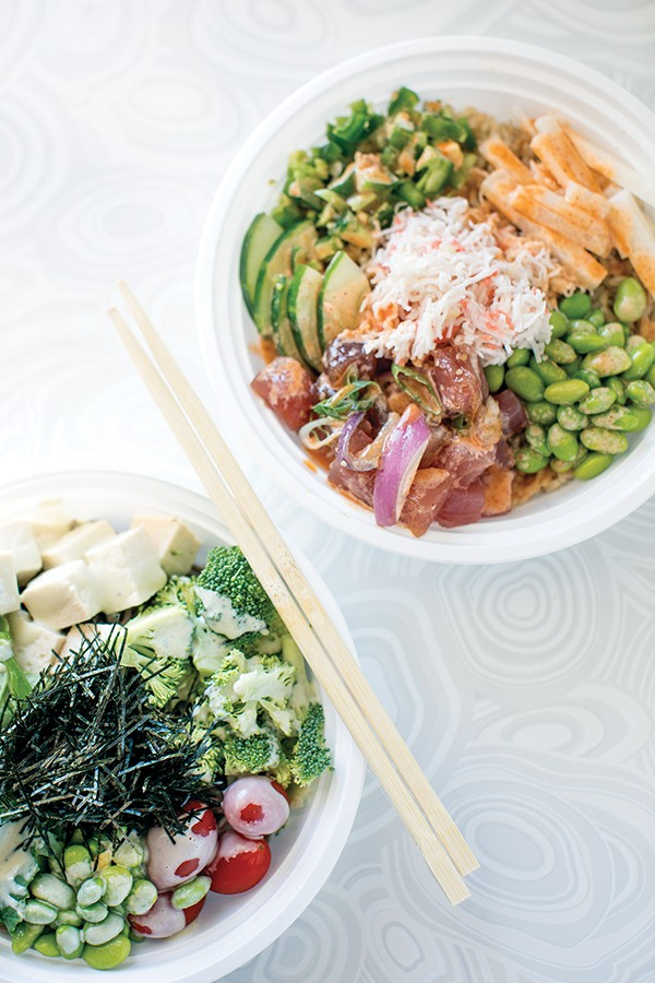 Now open ono poke and agavos cocina and tequila food for Fish me poke menu