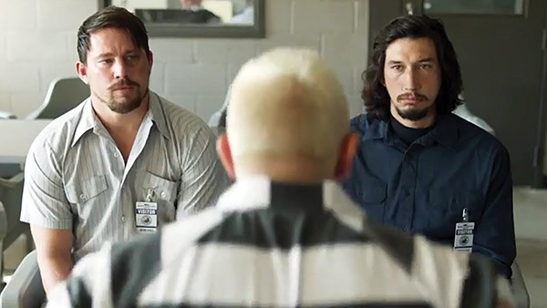 Channing Tatum (left) and Adam Driver star in Steven Soderbergh's directorial return, Logan Lucky.