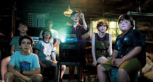 Meet the Losers Club — (left to right) Oleff, Grazer, Wolfhard, Jacobs, Lieberher, Lillis, and Taylor