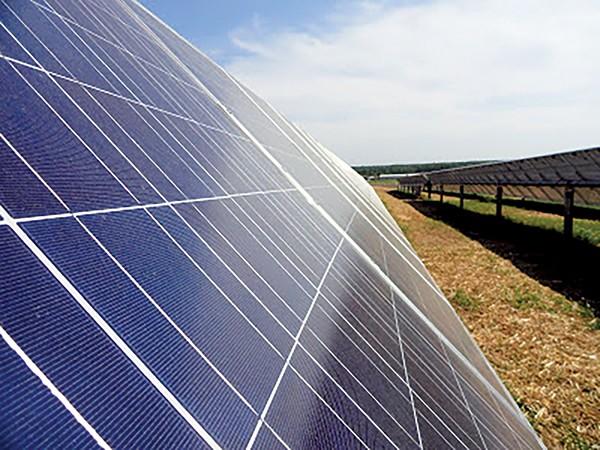 One of MLGW's solar arrays.