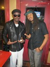 c'beyohn and Suavo J at Slice of Soul Pizza Lounge