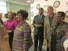 Memphis State Rep. Johnnie Turner (foreground, left) announced her retirement from the legislature Friday at local NAACP headquarters.