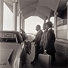 Ernest C. Withers, American, 1922 – 2007,  Martin Luther King, Jr. and Reverend Abernathy,  Day Before Assassination, Memphis Airport, April 3, 1968.  Gelatin silver print, printed from original negative in 1999, Memphis Brooks Museum of Art purchase with funds provided by Ernest and Dorothy Withers, Panopticon Gallery, Inc., Waltham, MA, Landon and Carol Butler, The Deupree Family Foundation, and The Turley Foundation 2005.3.5  © Withers Family Trust