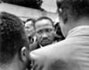 MLK at Medgar Evers' funeral