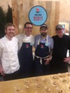 Nick Scott, second from left, was among the participating chefs at the June 8 Le Bon Apetit fundraiser.
