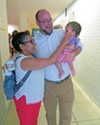 District 8 U.S. House  candidate John Boatner and family at border action rally