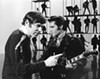 Steve Binder (left) and Elvis Presley on the set of Singer Presents …
