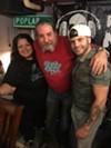 "Diana Fryer, Ric Chetter and Clay Markley at Markley's ""Kill Me"" listening party"
