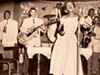 The Newborn Family Band,  ca. late 1940s: (l-r) Phineas Newborn, Jr., Calvin Newborn, Phineas Newborn, Sr., Wanda Jones, Unknown bassist,  Herman Green