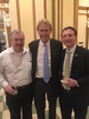 Jim Holt, Kevin Kane, and Craig Unger were at The Peabody's 150th anniversary kickoff reception.