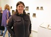 "Heather F. Wetzel with her 2012 work ""Mapping