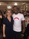 "Katie Smythe and Charles ""Lil Buck"" Riley at New Ballet Ensemble luncheon."